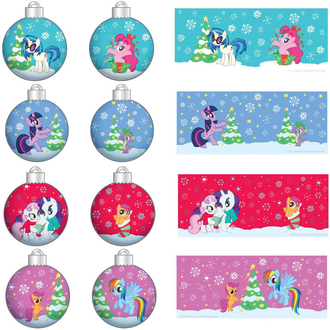 My Little Pony Christmas Ornament Pack - Set of 4   eBay